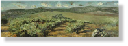 """Paisaje con palabras"", 2009, mixed media on canvas, 26 x 80 cm"